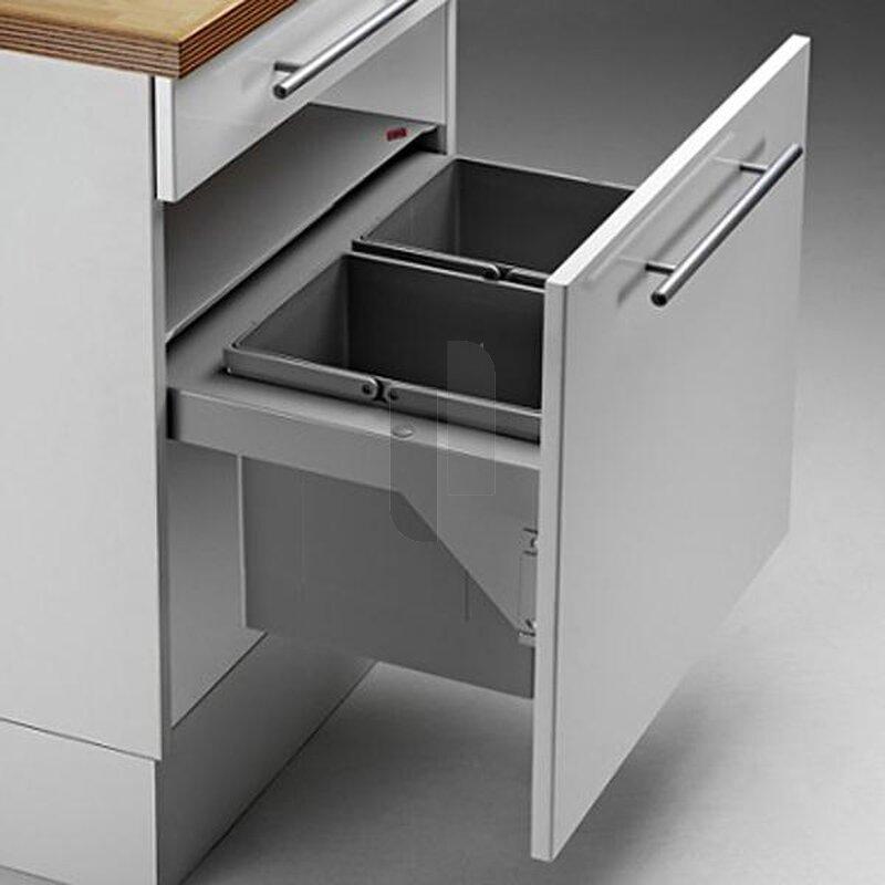 wesco 839702 11 einbau abfallsammler pullboy soft 60 sw 2x29 liter. Black Bedroom Furniture Sets. Home Design Ideas