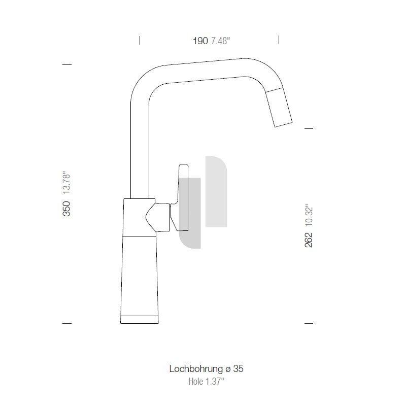 Schock Küchenarmatur SC-530 Chrom//Cristalite Croma GCR