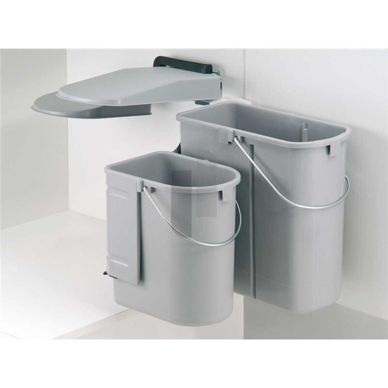 wesco 703611 85 einbau abfallsammler kontainer junior dt alugrau. Black Bedroom Furniture Sets. Home Design Ideas