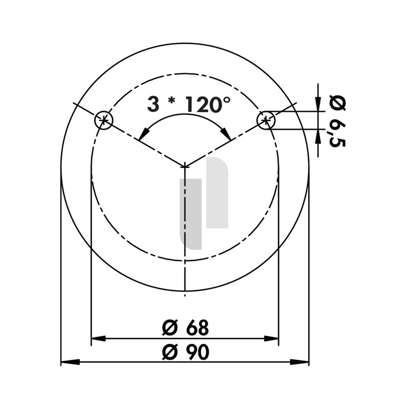 Konsole Capitello 3 Edelstahl H 183 mm Rohr-Ø 45 mm