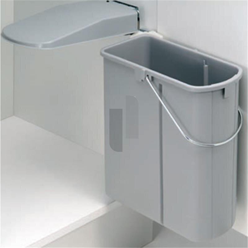 wesco 700411 85 einbau abfallsammler dt 19 liter alugrau. Black Bedroom Furniture Sets. Home Design Ideas