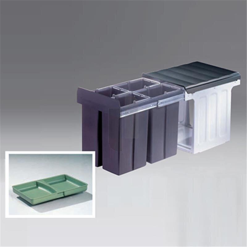 wesco 857711 11 einbau abfallsammler profiline bio quartett 40 dt 75. Black Bedroom Furniture Sets. Home Design Ideas