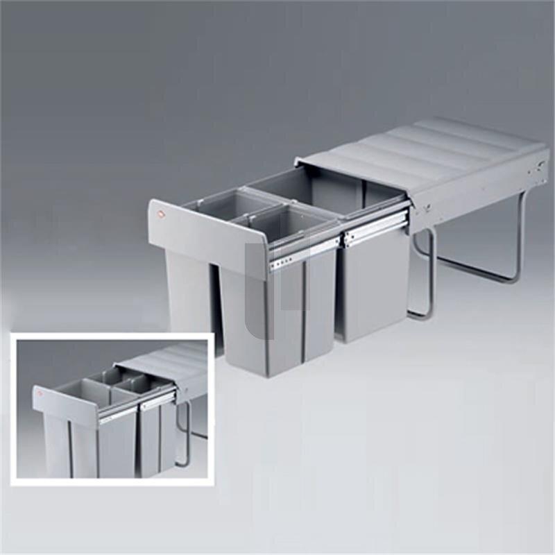 wesco 787821 85 einbau abfallsammler trio master 40 dt alugrau 70 5. Black Bedroom Furniture Sets. Home Design Ideas
