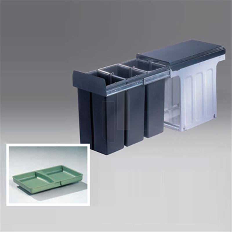 wesco 857611 11 einbau abfallsammler profiline bio trio 30 dt. Black Bedroom Furniture Sets. Home Design Ideas