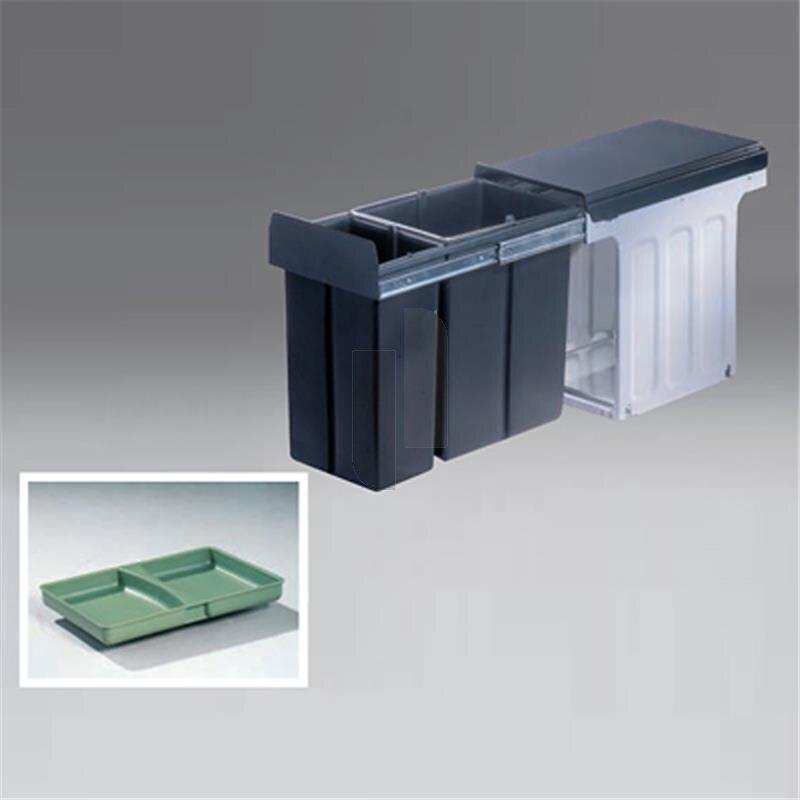 wesco 857621 11 einbau abfallsammler profiline bio double 30 dt 73 1. Black Bedroom Furniture Sets. Home Design Ideas