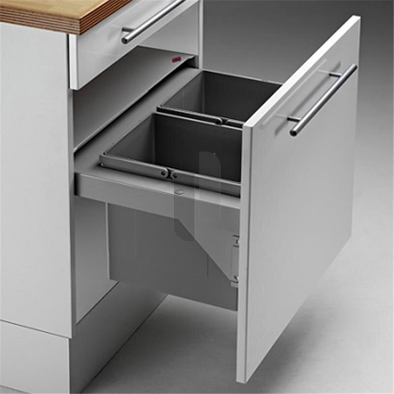 wesco 839607 11 einbau abfallsammler pullboy soft 60 sw 2x17 liter. Black Bedroom Furniture Sets. Home Design Ideas