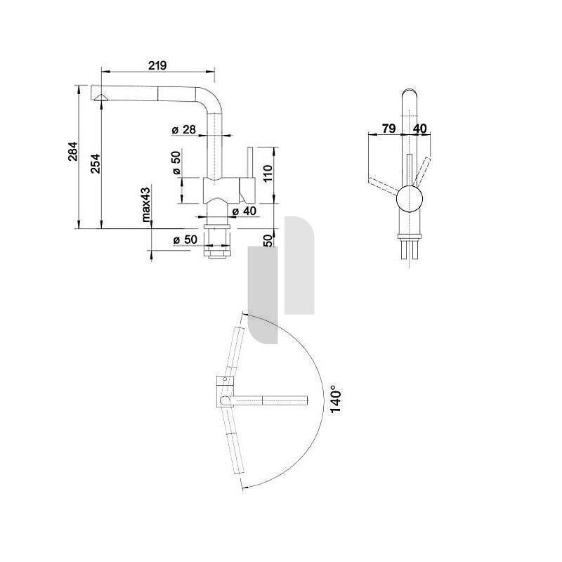 BLANCO Küchenarmatur LINUS-S-F Einhebelmischer Vor-Fenster ...
