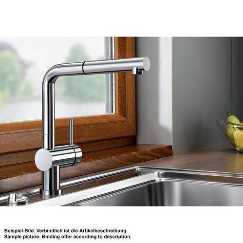 blanco k chenarmatur linus s f einhebelmischer vor fenster armatur. Black Bedroom Furniture Sets. Home Design Ideas