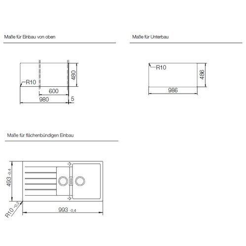 schock einbausp le cristadur signus d 150 a. Black Bedroom Furniture Sets. Home Design Ideas