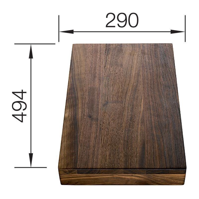 blanco schneidbrett nussbaum massiv 494 x 292 mm. Black Bedroom Furniture Sets. Home Design Ideas
